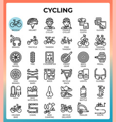 cycling concept icons vector image