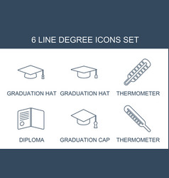 Degree icons vector