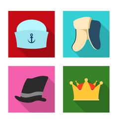 design of headgear and cap symbol set of vector image