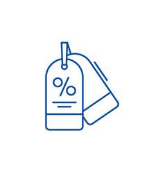 discounts line icon concept discounts flat vector image