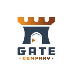 door gate logo vector image
