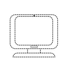 Dotted shape computer digital screen equipment vector