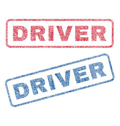 Driver textile stamps vector