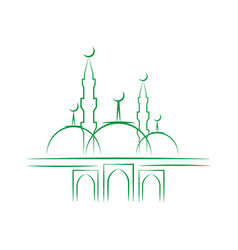 Eid al adha lettering composition of moslim holy vector
