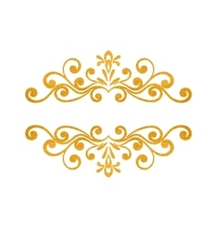 Elegant luxury vintage gold floral border vector