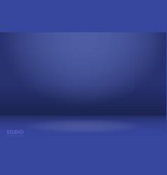 Empty blue studio room background vector