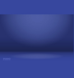 empty blue studio room background vector image