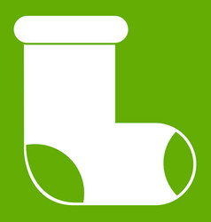 Felt boot icon green vector