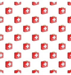 First aid kit pattern cartoon style vector image