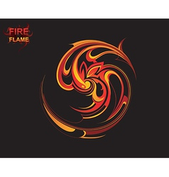 Flame tribal background vector