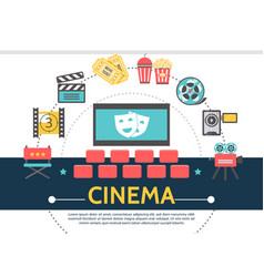 flat movie template vector image