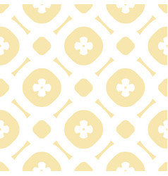 floral minimalist seamless simple pattern vector image