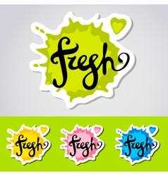 Fresh stiker logo vector