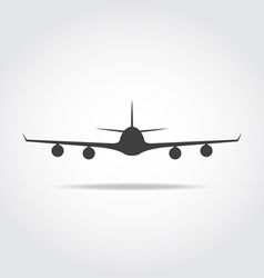 Front Plane Black Icon vector image