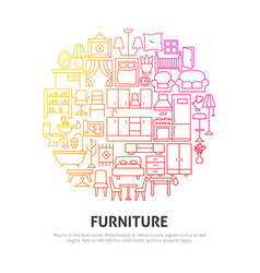 furniture circle concept vector image