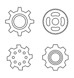 gear or cog icon vector image