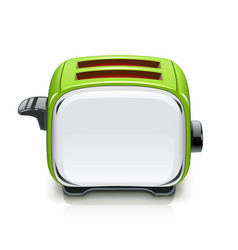 green toaster kitchen vector image