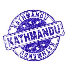 Grunge textured kathmandu stamp seal vector
