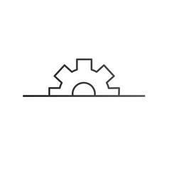 Half gear settings icon cogwheel gear mechanism vector