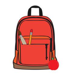 isolated school bag vector image