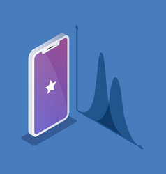 isometric of phone or smartphone vector image