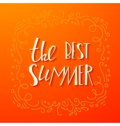 Lettering summer quote banner vector