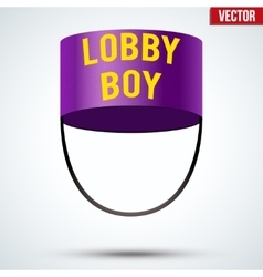 Lobbyboy Hat vector