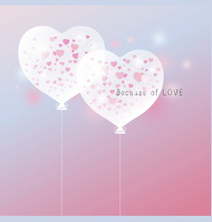 love concept of heart balloon design vector image