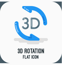 material design icon of rotation flat vector image