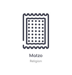 Matzo outline icon isolated line from religion vector