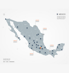 Mexico infographic map vector