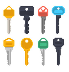 modern keys house door lock or car keys vector image