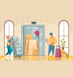 Moving new house interior vector