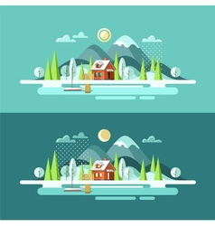 Nature Winter Landscape vector image