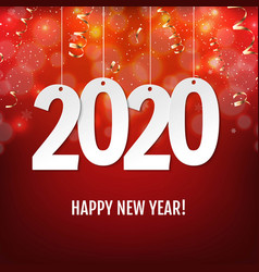 new year card with serpentine vector image