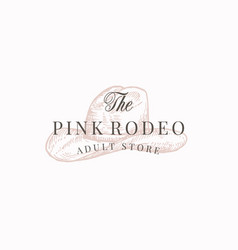 pink rodeo adult store abstract sign vector image