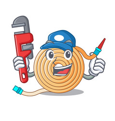 Plumber the water hose mascot vector