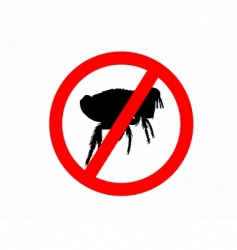 prohibition sign for fleas vector image