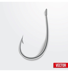 Realistic fishing hook vector image