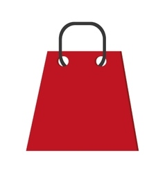 red shopping bag icon vector image