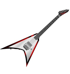 Rock Guitar isolated on white background vector image