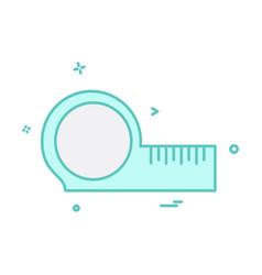 scale icon design vector image