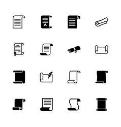 scrolls and papers - flat icons vector image