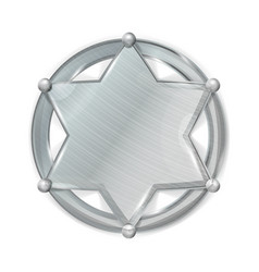 Sheriff badge star realistic blank of vector