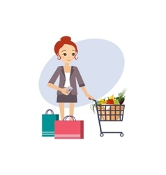 Shopping Daily Routine Activities of Women vector