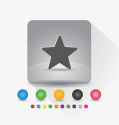 star shape icon sign symbol app in gray square vector image