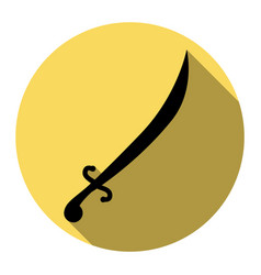 sword sign flat black icon vector image