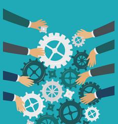 Teamwork idea brainstorm business concept vector