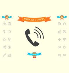 telephone handset telephone receiver icon vector image