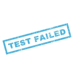 Test Failed Rubber Stamp vector
